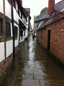 Rainy street in Warwick