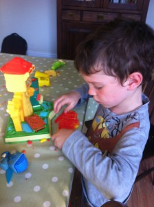 Play doh castle