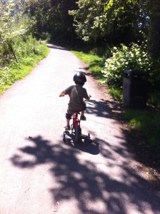 Cycling round the reservoir
