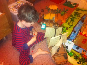 Playing with playmobil