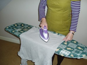 Ironing with the Morphy Richards Breeze Steam Iron