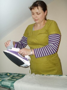 filling the Morphy Richards breeze steam iron
