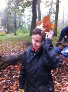 Making leaf crowns