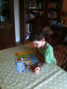 Reading the lego magazine