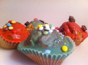 Fairy Cakes Decorated By A Child