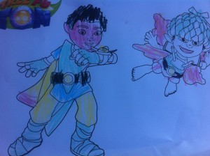 colouring in Tree Fu Tom