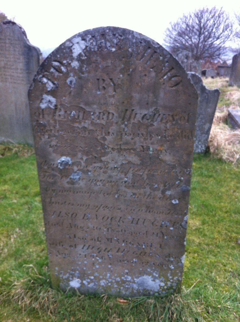 St.Sannan's Church Bedwellty gravestone