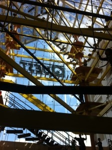 high rope course at Quest, Merry Hill