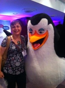 with penguin from Madagascar