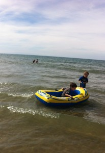 in a dinghy