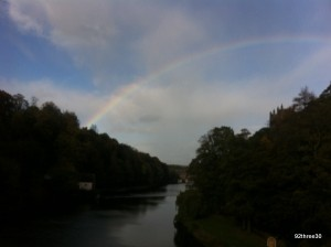 View of River Wear with Rainbow