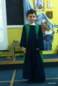 Innkeeper in the nativity play
