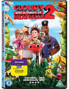 CLOUDY WITH A CHANCE OF MEATBALLS 2 DVD sleeve