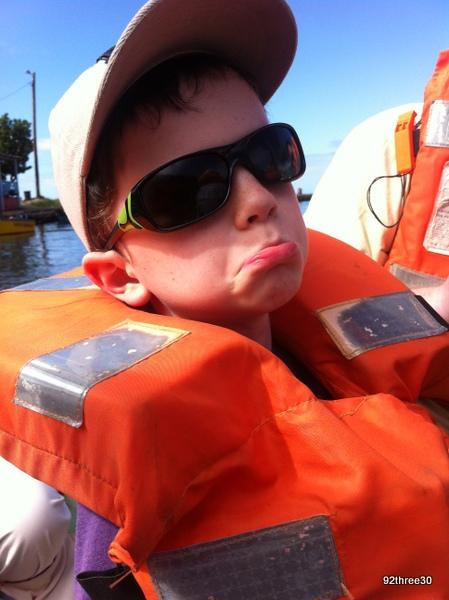 boy in a life jacket