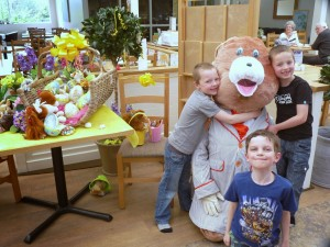 Children with the Easter Bunny