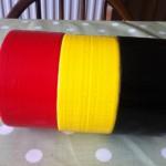 Belgian flag from Ducktape