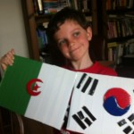 Algerian and Korean flags