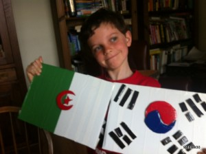 Algerian and Korean flags