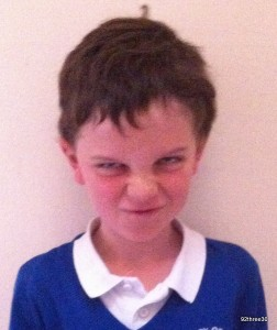 grumpy school photo
