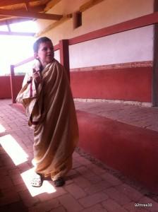 wearing a Roman Toga