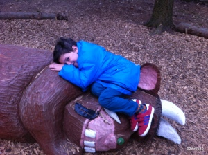 sleeping with a gruffalo