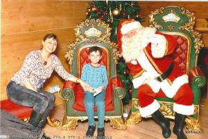 telling santa about lego