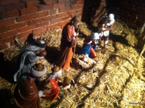 nativity play on farm