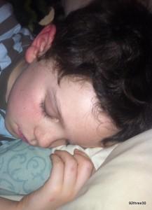 having a sleepover