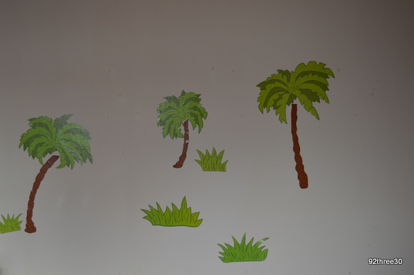 trees and grass wallpops