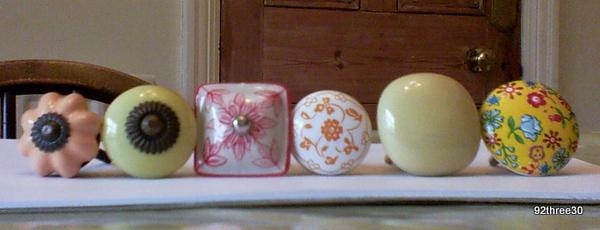 small decorative knobs