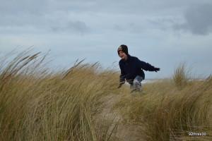 running around the sand dunes