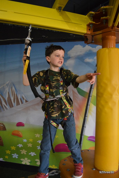 strapped in for low rope walk