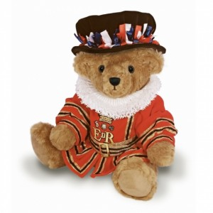 teddy wearing beefeater costume