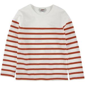 Long sleeved boys t red stripe
