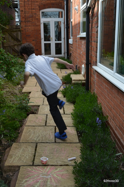 doing hopscotch