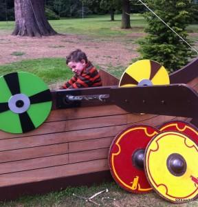 viking long boat at Warwick Castle