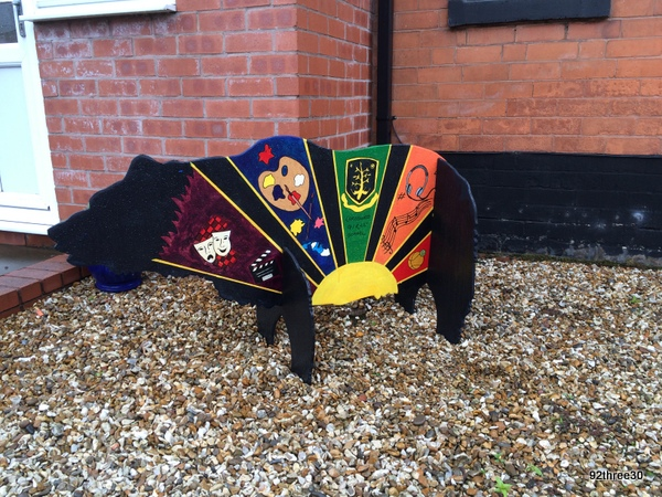 decorated black bear for bear trail