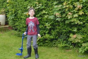 metal detecting in the garden
