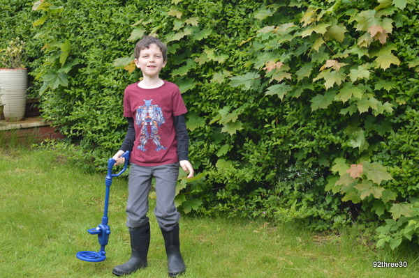 metal detecting in the garden