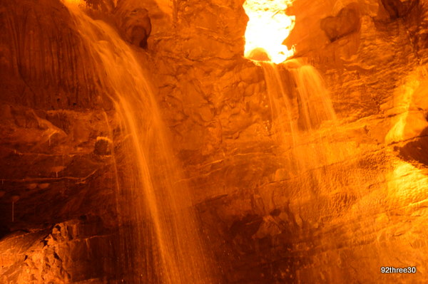 water action on caves
