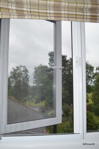 fitted flyscreen on a window