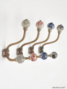 embellished orb coat hooks