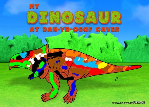 H's dinosaur design
