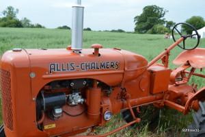 vintage orange tractor