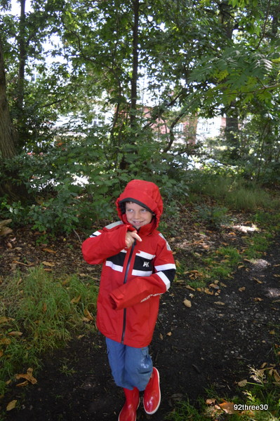 boy wearing waterproofs
