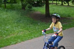 practising bike riding