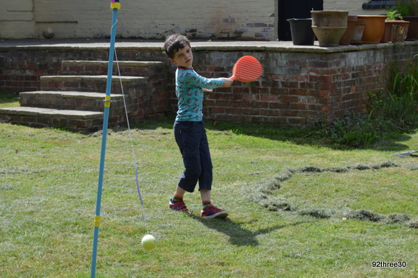 swingball on the lawn