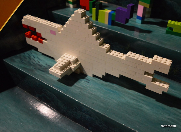shark built from lego
