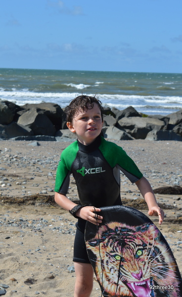 boy in wet suit