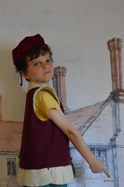 dressed up as a tudor
